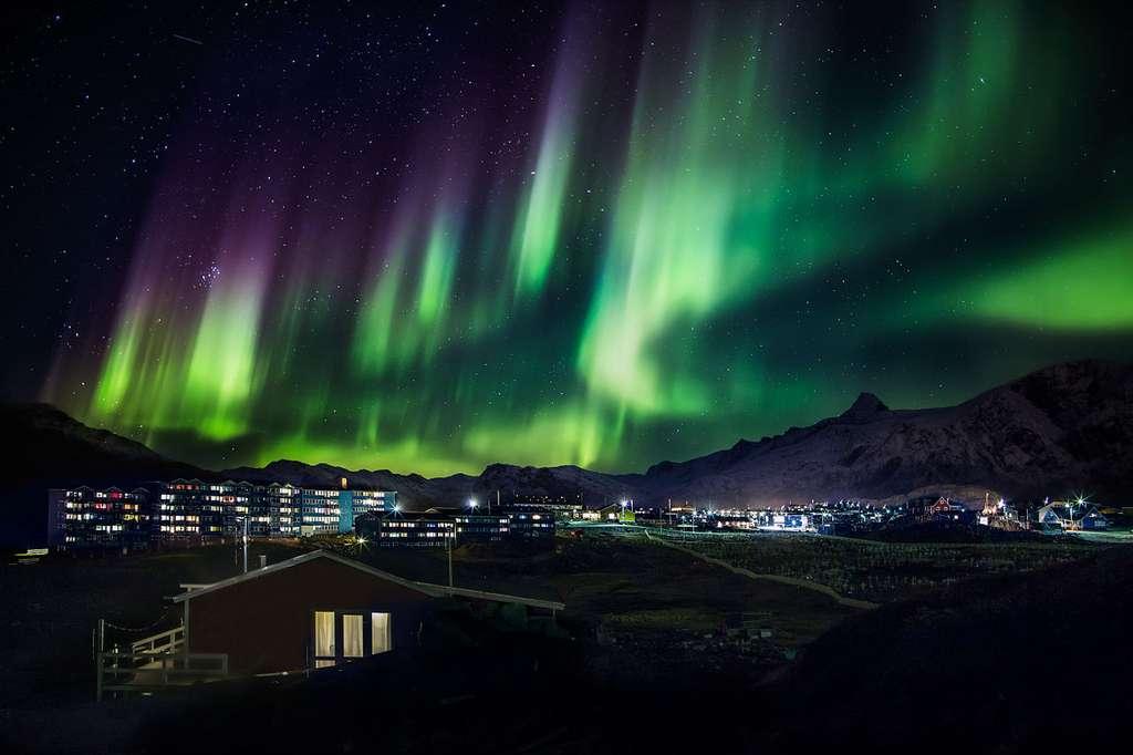 Photo d'aurore boréale au Groenland