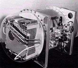 Une des toutes premières piles à combustible fut utilisée de 1962 à 1966 par la Nasa à bord des capsules Gemini. Ce module, fabriqué par General Electric, pouvait fournir une puissance de 1 kW. Crédit Nasa