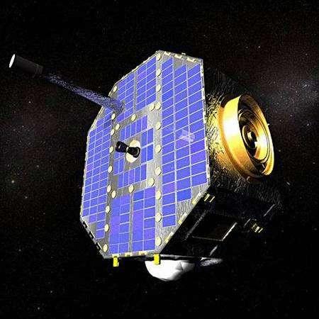 Le satellite Ibex en orbite (vue d'artiste). Crédit Nasa