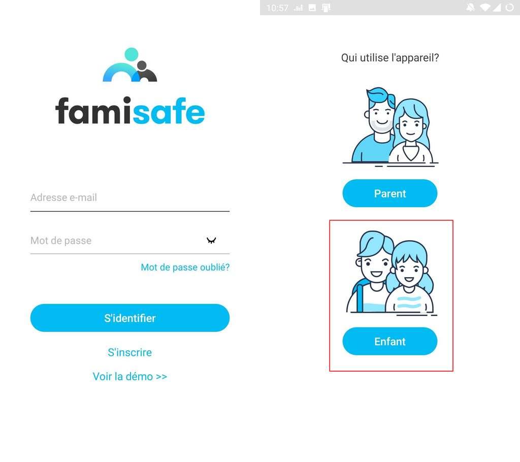 Configurez FamiSafe sur le smartphone de votre enfant. ©Wondershare
