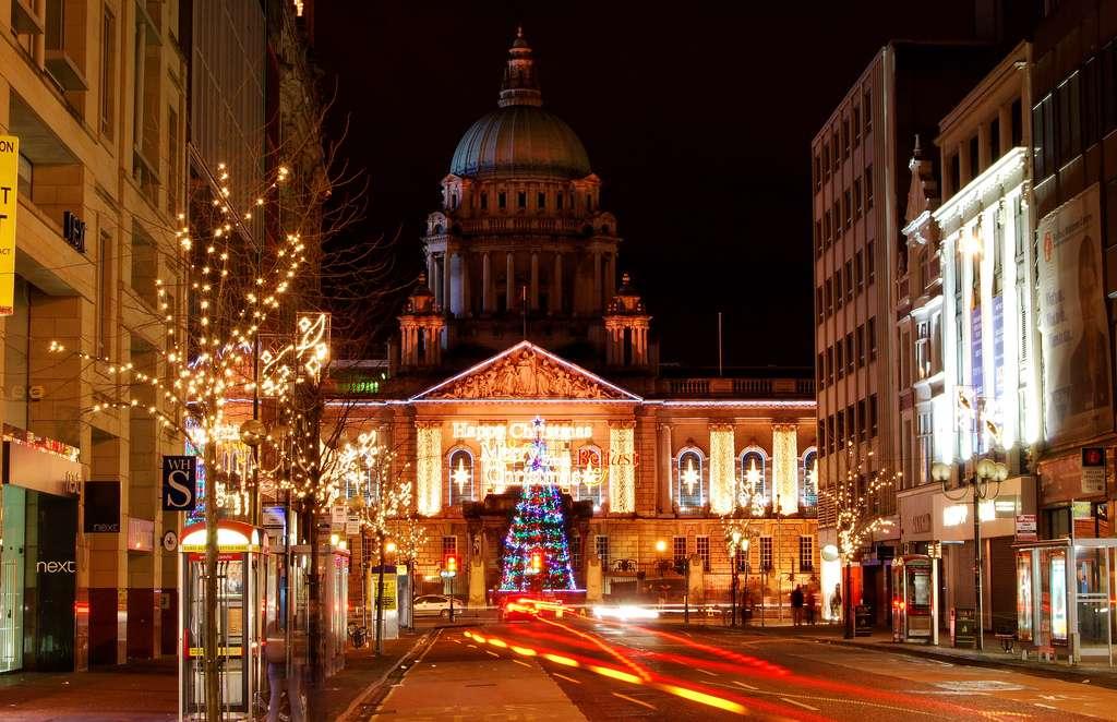 Noël à la Belfast City Hall, en Irlande du Nord