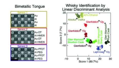 Les nanostructures métalliques sont parfaites pour les dispositifs à languette optique en raison de leur stabilité chimique. © Royal Society of Chemistry