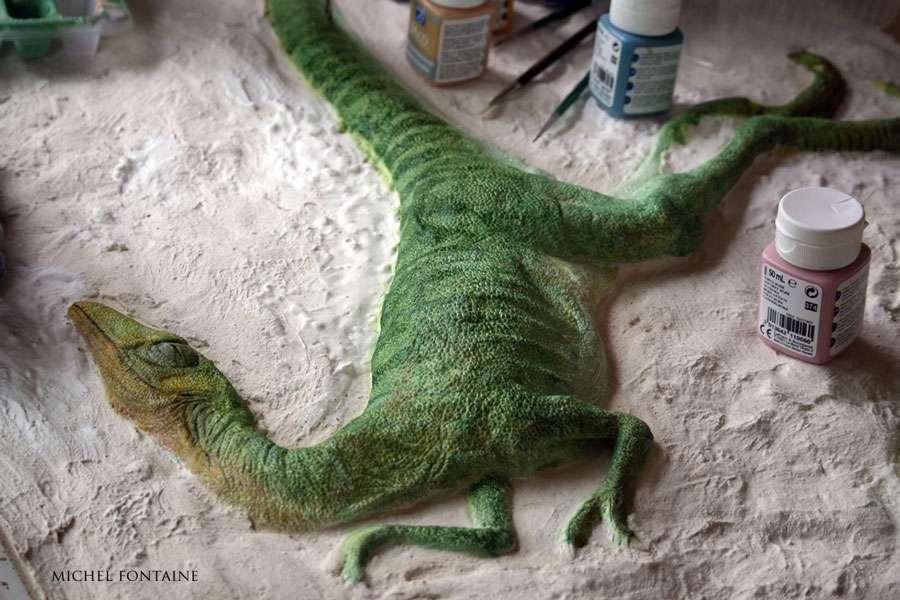 Compsognathus - Peinture terminée
