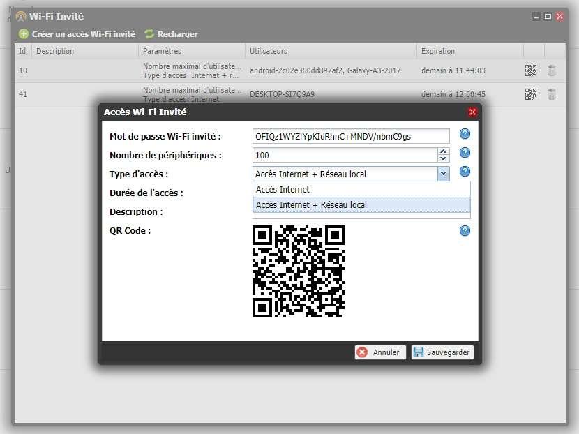 Freebox OS : Création d'un réseau partagé. © UniversFreebox