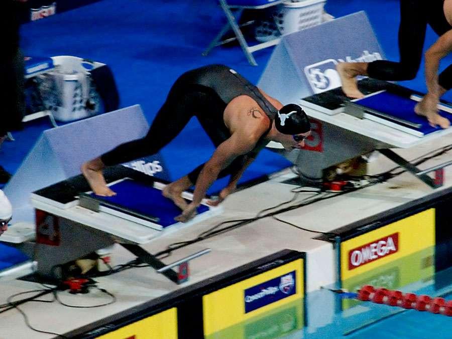 Nageur avec l'une des nouvelles combinaises. © Nicole Elocin - CC BY-NC 2.0