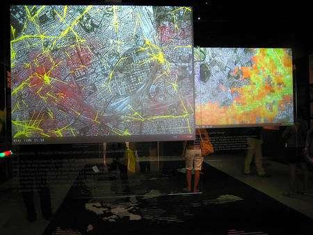 Démonstration publique de Real Time Rome à Venise.