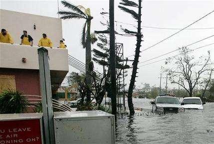 Cancun sous les eaux