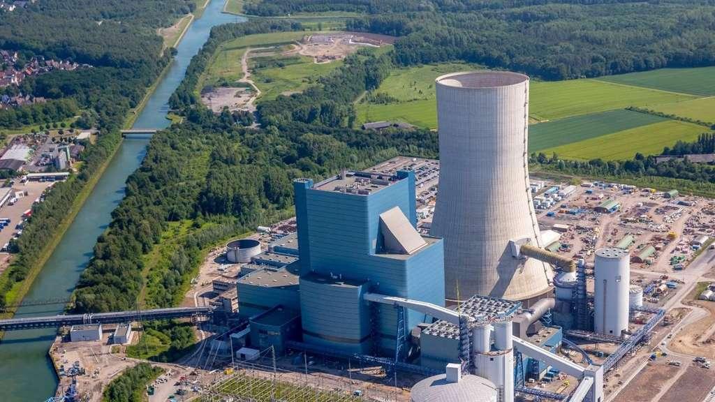 La centrale nouvelle au charbon de Datteln 4, en Rhénanie Nord-Wesphalie, aura une capacité de 1.100 MW en 2020. © Uniper