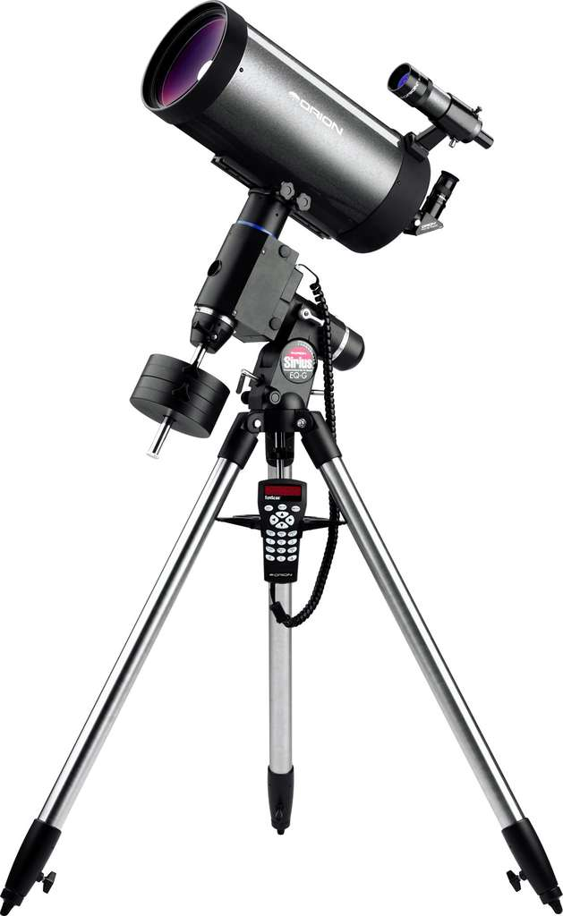 Un télescope « Maksutov Cassegrain » sur monture équatoriale. © Orion - Tous droits réservés