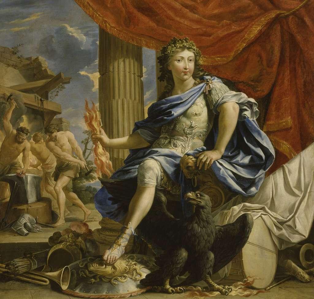 Louis XIV en Jupiter vainqueur de la Fronde, peint par Charles Poerson en 1654. Château de Versailles. © RMN, Grand Palais (Château de Versailles), Gérard Blot.