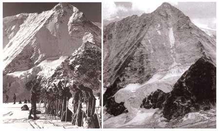 Gauche : Vers 1944 Photo : M. Sonney - Droite : Vers 1950 Photo : A. Jean-Richard - Tous droits de reproduction interdit
