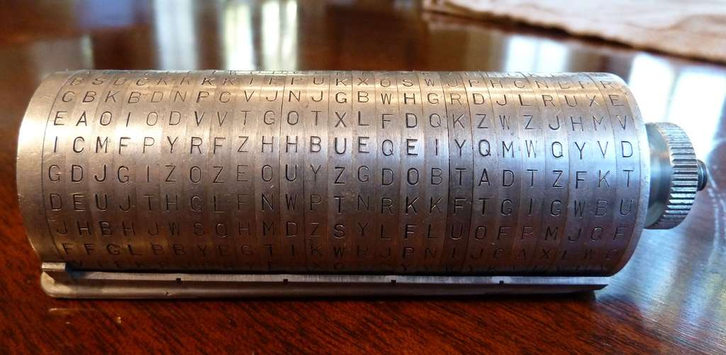 Le wheel cipher de Thomas Jefferson. © Ciphermachines