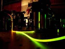 Figure 5. La fibre optique dans laquelle circule une impulsion laser. © University of St Andrews