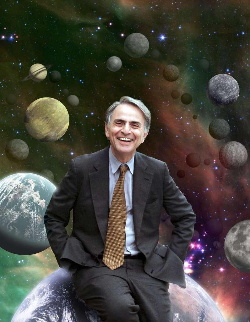 Carl Sagan, l'auteur de Cosmos et Contact fut un remarquable planétologue et vulgarisateur. On le connaît surtout pour son engagement dans le programme SETI. © Nasa