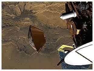La séparation des sondes Mars Express et Beagle 2 crédit ESA
