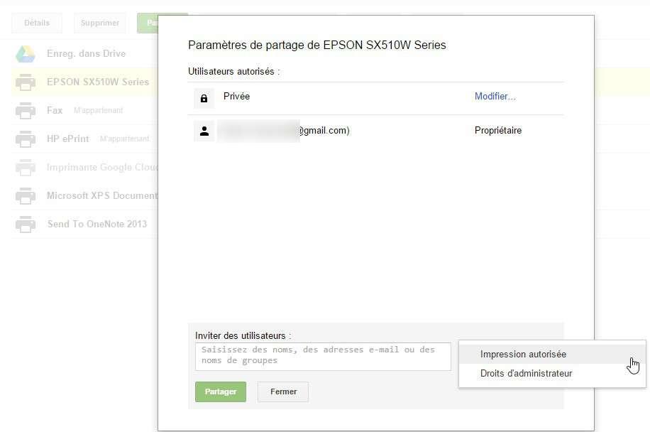 Google Cloud Print permet de partager une imprimante avec une ou plusieurs personnes. © Futura-Sciences
