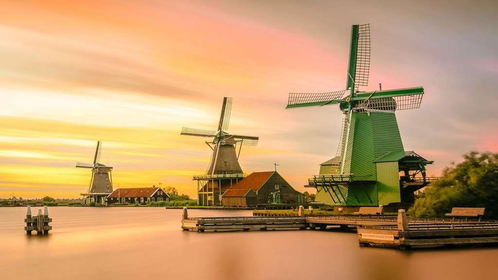 Les moulins à vent de Zaanse Schans, Pays-Bas