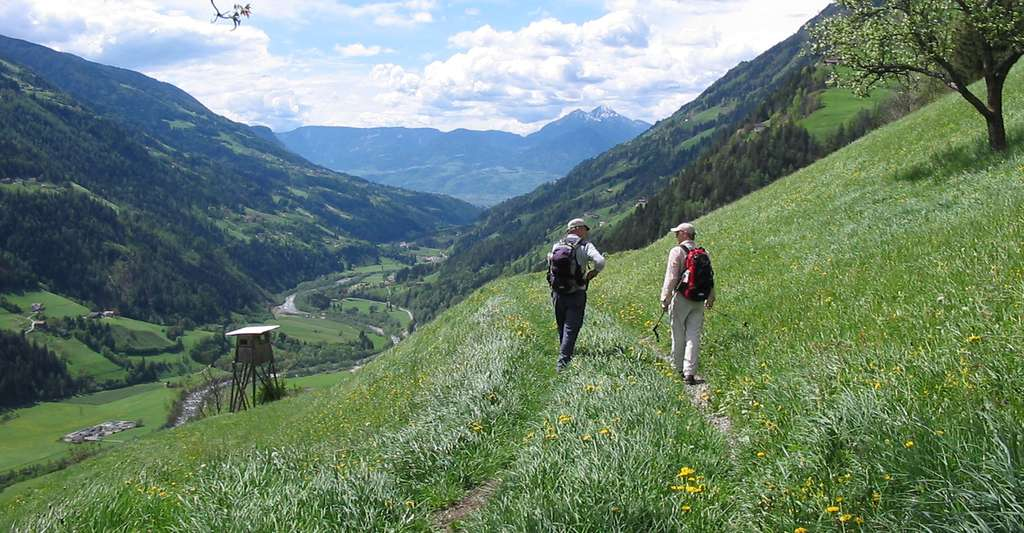 La randonnée un bon exercice anti-vieillessement. © Brazzy - Domaine public