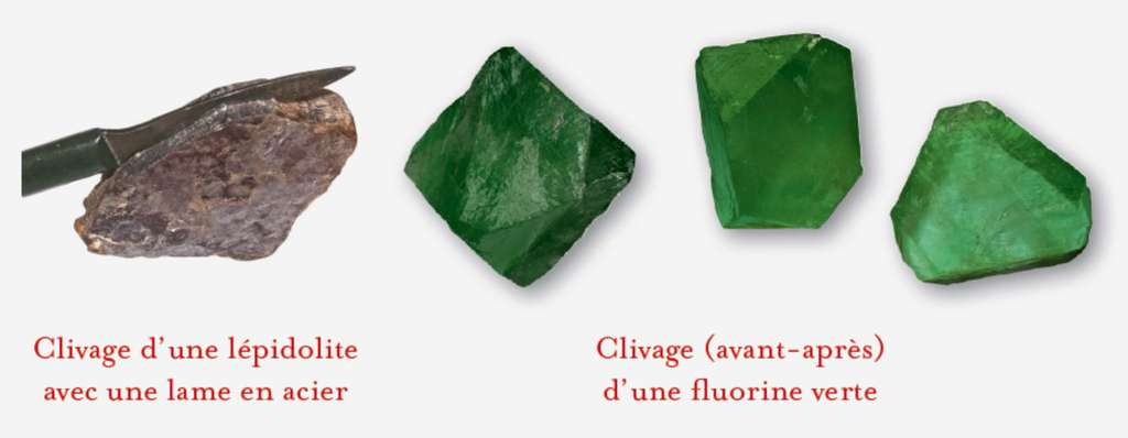 Le clivage est une opération qui permet la division d'une gemme sans perte de volume. © Dunod, DR