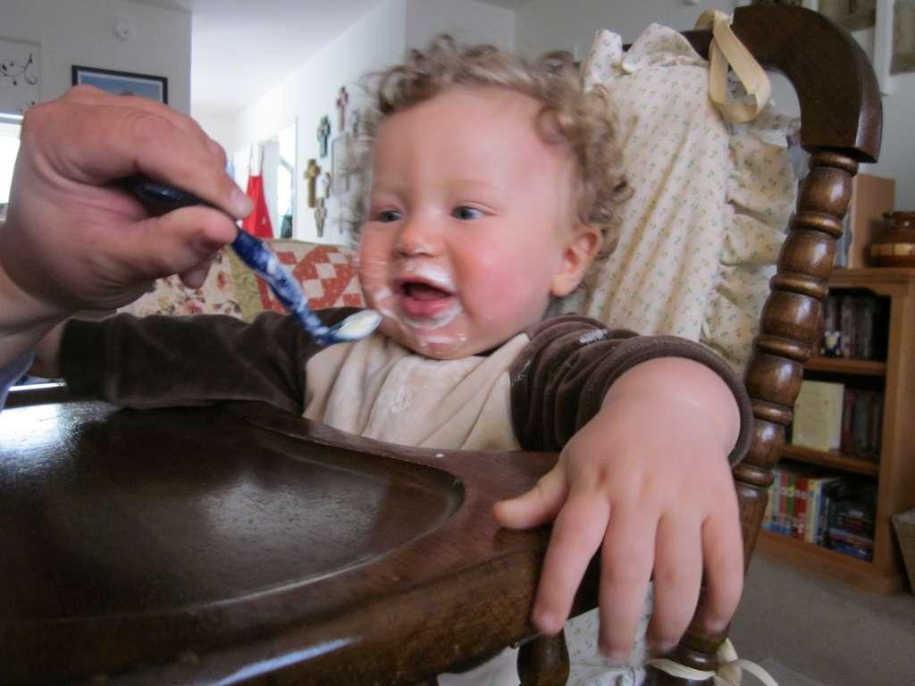 Lorsque l'on nourrit les bébés à la cuillère, ils ont tendance à préférer les sucres rapides. Or, ce ne sont pas les produits les plus sains pour la santé, ils peuvent faciliter l'obésité. Si quelques sucreries ne représentent pas un danger, les habitudes alimentaires durant la petite enfance perdurent parfois tout au long de la vie. © Randi805, Flickr, cc by nc sa 2.0