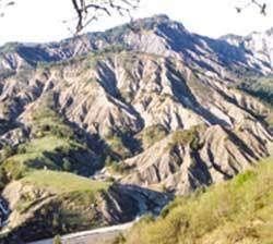 Paysage de bassin versant érodé dans la région de Digne © Photo Freddy Rey - Cemagref
