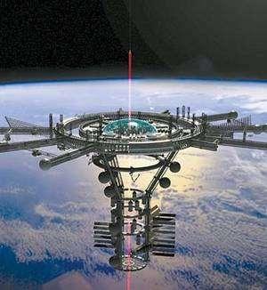 L'ascenseur spatial a été rendu célèbre par A. C. Clarke dans son roman Les fontaines du Paradis.