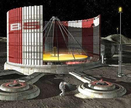 Un projet de petit télescope lunaire. Crédit : 2005 Kenn Brown/Chris Wren