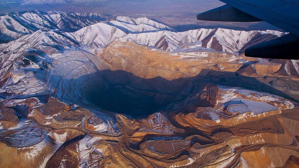 La mine de Bingham Canyon, où sont extraits cuivre, or et argent