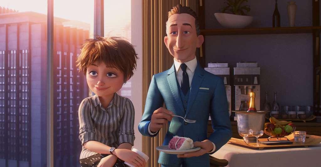 Dans le cinéma d'animation, il arrive que les personnages soient très « cartoonisés », mais que le réalisme de la peau et des cheveux soit recherché, comme ici dans Les Indestructibles 2 (2018). En particulier, le réalisme peut être dans le mouvement des cheveux, face au vent par exemple, ou encore dans l'interaction de la lumière avec la matière la peau et les cheveux, auquel cas on parle de photoréalisme. © The Walt Disney Company France