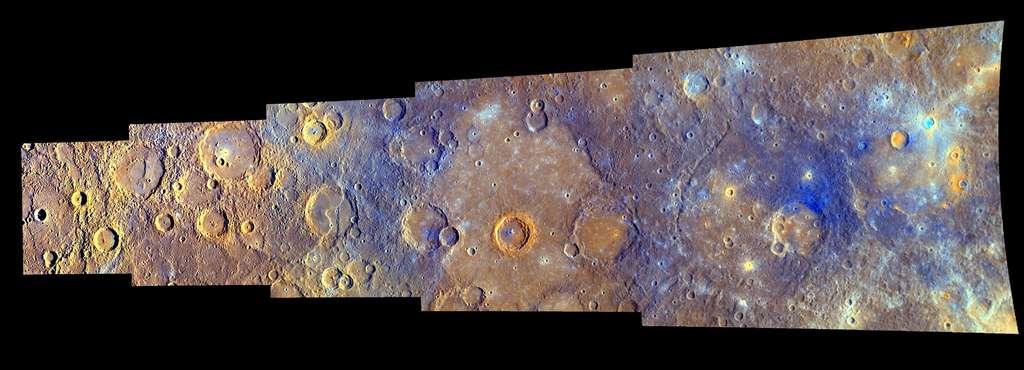 Une des nombreuses photos de Mercure montrant une surface fortement cratérisée et une variété de terrains de tous âges (octobre 2008). © Nasa/Johns Hopkins University Applied Physics Laboratory/Carnegie Institution of Washington