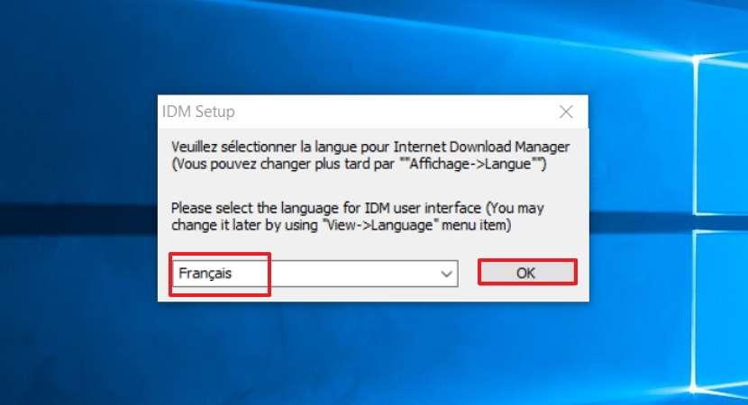 Sélectionnez «Français» puis validez. © Tonec Inc.