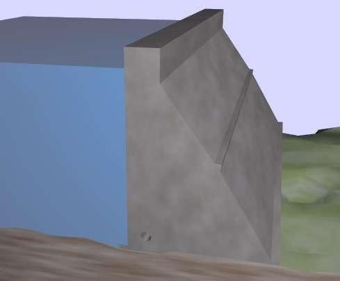 Un barrage-poids est un type de barrage dont la propre masse est censée suffire à résister à la pression exercée par l'eau. Ils sont souvent très épais et présentent une forme assez simple (leur section s'apparente souvent à un triangle rectangle). © Luk, Wikimedia Commons, cc by sa 3.0