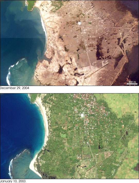 Le Tsunami a ravagé Lhoknga, Indonésie