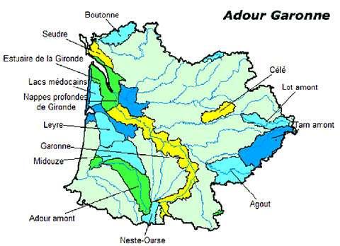 Bassin Adour-Garonne. © DR