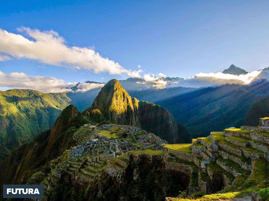 Pérou, le Machu Picchu 2430 mètres d'altitude sanctuaire de l'Empire inca