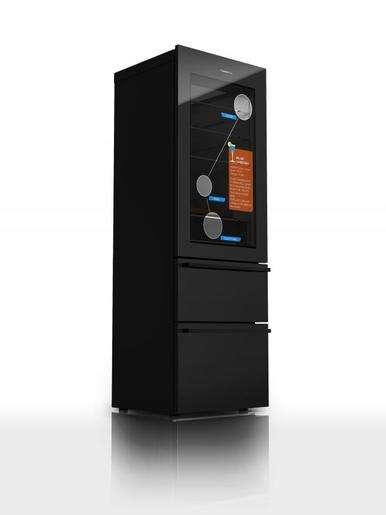 L'écran tactile du réfrigérateur « intelligent » du constructeur Haier donne à voir ce qui se trouve à l'intérieur sans avoir à ouvrir la porte. © Haier