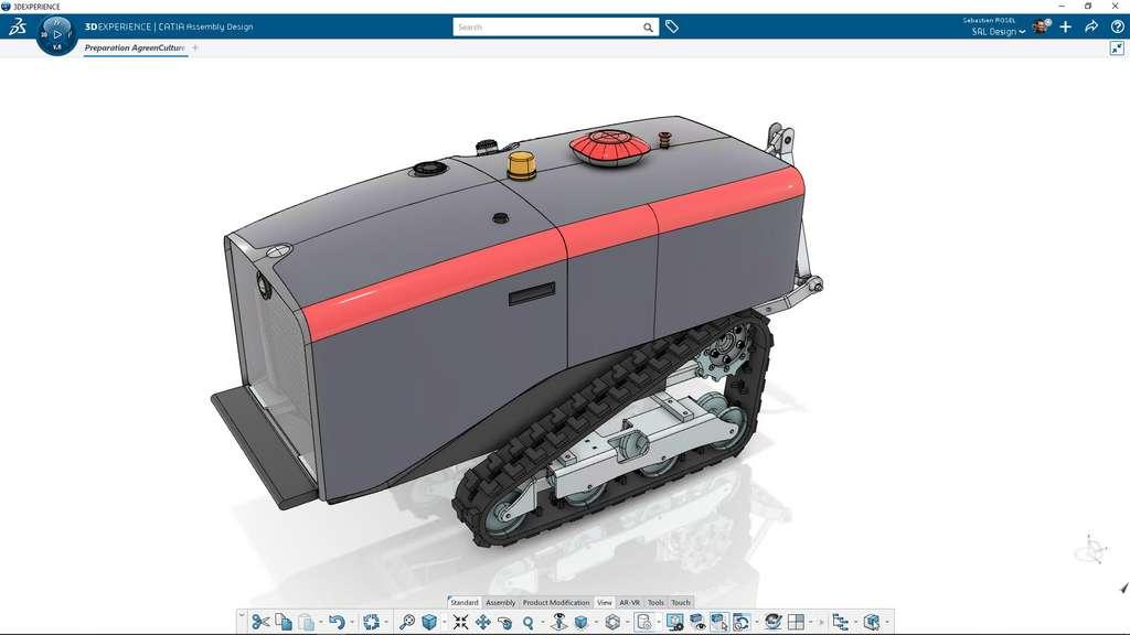 Modélisation du robot fermier AgreenCulture en 3D ©3DEXPERIENCE Lab