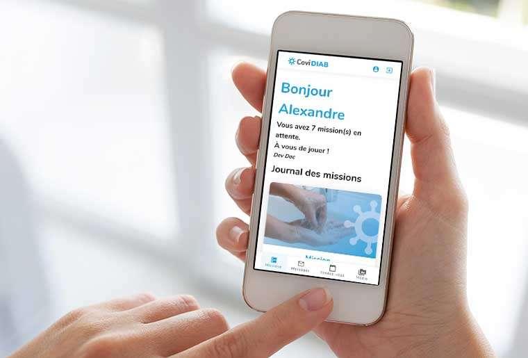 CoviDIAB est une application à l'initiative collaborative des équipes de l'AP-HP, de l'Inserm et d'Université de Paris. © CoviDIAB.fr