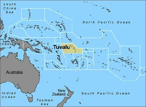 Carte géographique de Tuvalu. © DR, reproduction et utilisation interdites
