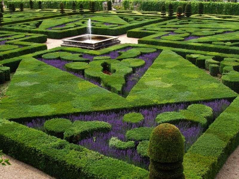 Les jardins à la française du château de Villandry, en France