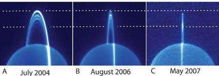 Autre vue infrarouge du système d'anneaux. Keck obs.