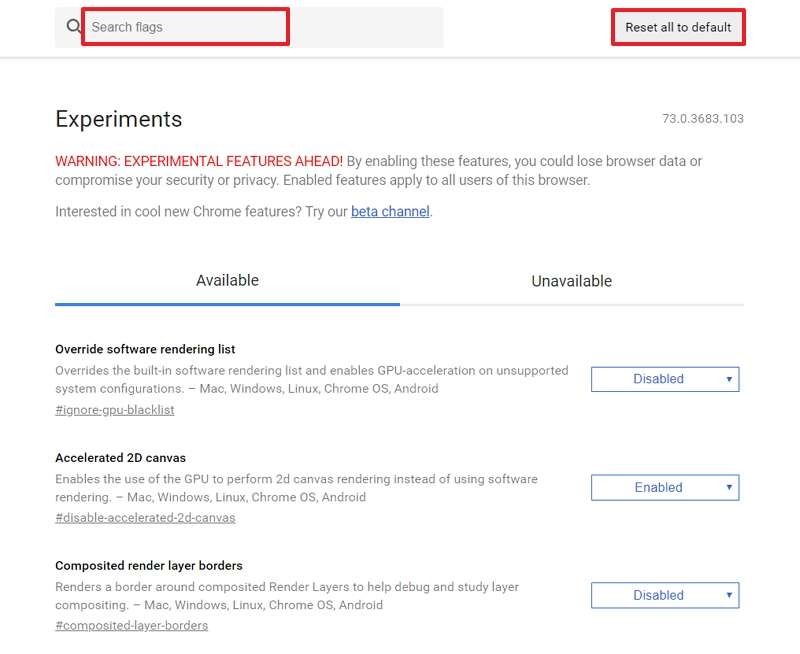 Cherchez des flags directement dans la liste ou bien tapez leur nom pour les trouver plus rapidement. © Google Inc.