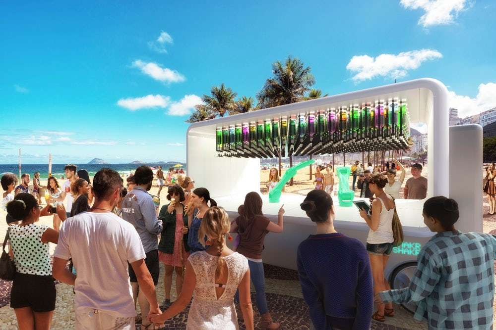Le concept de barmobile Guido par Makr Shakr. © Carlo Ratti Associati