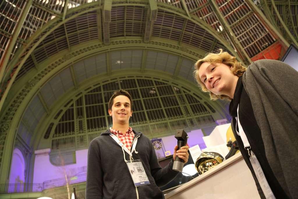 Alice Froissard et Corentin Huard, les deux fondateurs de l'entreprise Ektos. Ils se sont rencontrés à l'École des ponts et chaussées (École des ponts-ParisTech) où ils ont commencé à travailler sur le projet Ektos. © Ektos