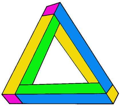Le triangle de Penrose. © Reproduction et utilisation interdites
