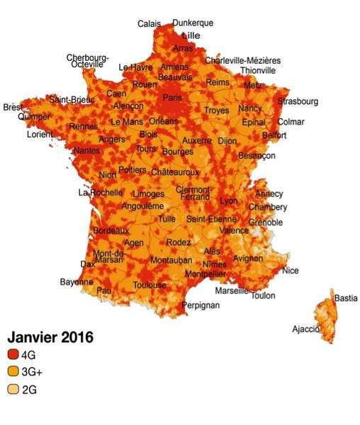 Orange a également annoncé que son réseau 4G couvre 80 % de la population métropolitaine, soit 4 Français sur 5. © Orange