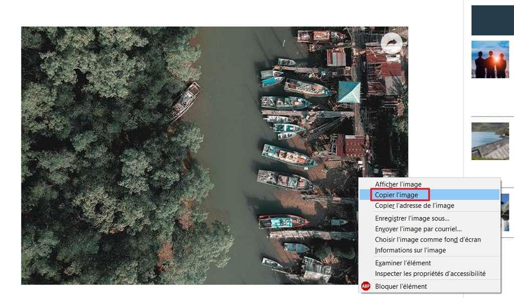 Faites un clic droit, puis sélectionnez « Copier l'image ». © SundryTools.com