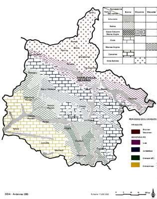 Carte des différents terrains cliquez sur la carte pour l'agrandir