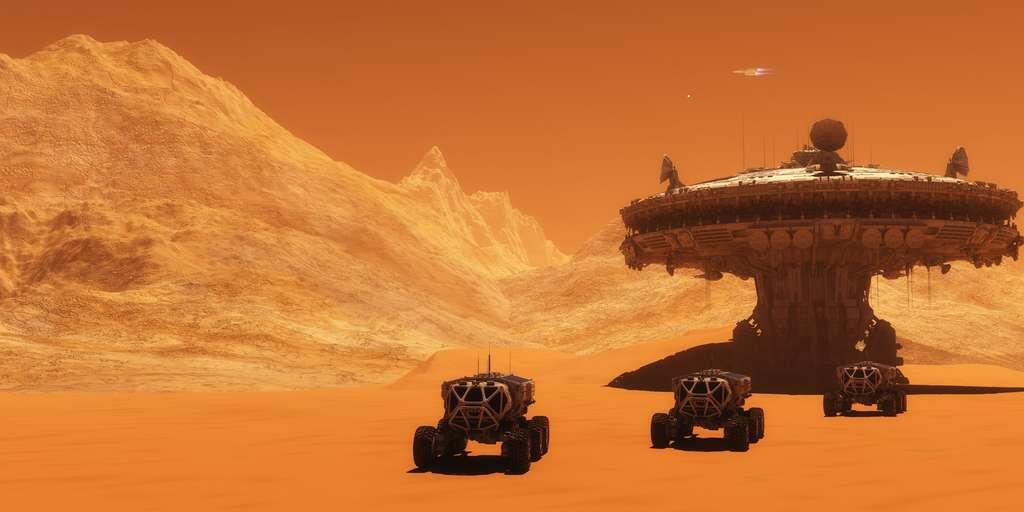 Depuis des bases dispersées dans le désert, ces véhicules partent extraire l'Épice, le plus grand trésor de l'univers. © Catmando, Fotolia