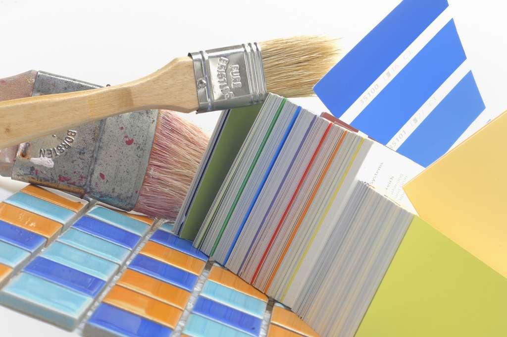 Les différents types de peinture pour un carrelage de salle de bains. © Gerhard Seybert, AdobeStock